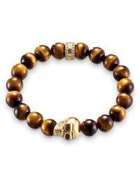 Thomas Sabo | Brown Rebel At Heart Tiger`s Eye Bracelet W/skull | Lyst