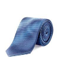HUGO | Blue Faded Stripe Tie for Men | Lyst