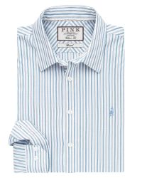 Thomas Pink | Blue Nelson Stripe Classic Fit Button Cuff Shirt for Men | Lyst