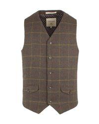 Racing Green | Green Conroy Check Waistcoat for Men | Lyst
