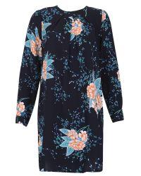 Izabel London   Blue Floral Print Flow Tunic   Lyst