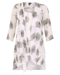 Izabel London | Gray Floral Tunic Dress With Front Tie | Lyst
