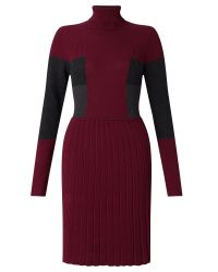 Adrianna Papell | Red Multicolour Long Sleeve Knit Dress | Lyst