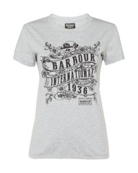 Barbour | Black International Riser Tee | Lyst