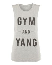 Dharma Bums | Gray Gym And Yang Tank Top | Lyst