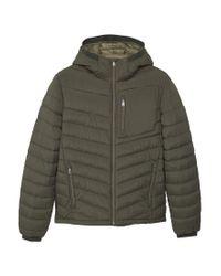 Mango | Green Side-zip Quilted Coat for Men | Lyst