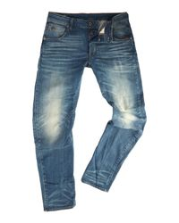 G-Star RAW | Blue Arc 3d Cavell Slim Fit Mid Wash Stretch Jeans for Men | Lyst