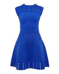 Ted Baker | Blue Zaralie Jacquard Panel Skater Dress | Lyst