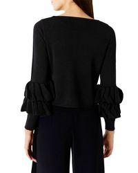 Coast | Black Ella Ruffle Sleeve Jacket | Lyst