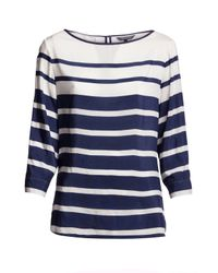 Tommy Hilfiger | White Anna Blouse | Lyst