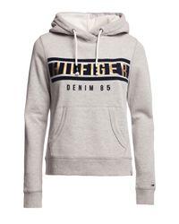 Tommy Hilfiger | Gray Basic Logo Hoody | Lyst
