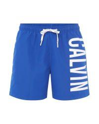 Calvin Klein | Blue Large Side Logo Swimshort for Men | Lyst