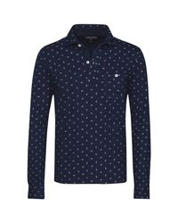 Tommy Hilfiger | Blue Benton Print Polo Top for Men | Lyst