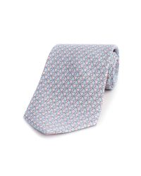 Thomas Pink | Pink Elephant Geo Print Tie for Men | Lyst