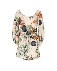 Izabel London | Multicolor Nature Print Waist Tie Top | Lyst