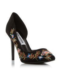Steve Madden | Black Adoria Sm Embroidered Court Shoes | Lyst
