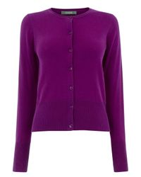 Oasis | Purple Crew Neck Cardigan | Lyst