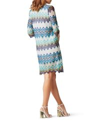 James Lakeland | Blue Zig Zag Lace Dress | Lyst