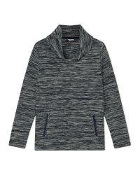 Dash | Blue Navy Cowl Neck Top | Lyst