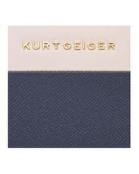 Kurt Geiger - Blue New Saf Zip Around Wallet - Lyst