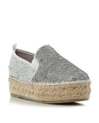 Steve Madden | Metallic Poppi Sm Slip On Sequin Espadrille Shoes | Lyst