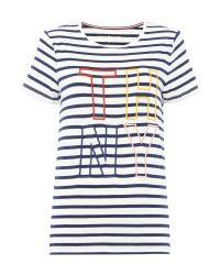 Tommy Hilfiger | White Damari Logo T-shirt | Lyst