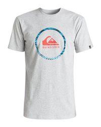 Quiksilver   Gray Classic Active Logo 3.0 T-shirt for Men   Lyst