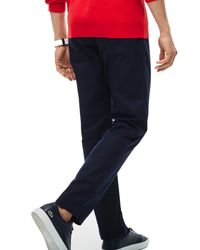 Lacoste | Blue Cotton Twill Chino Pants for Men | Lyst