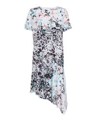 Great Plains | Green Miquita Marble Asymmetric Shift Dress | Lyst