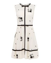 Ted Baker | Natural Iivy Bow Detail A Line Dress | Lyst