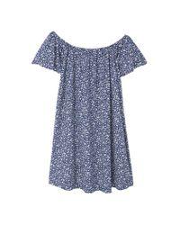 Mango | Blue Off-shoulder Dress | Lyst
