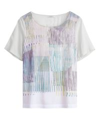 Sandwich | White Painted Stripe Print Top | Lyst