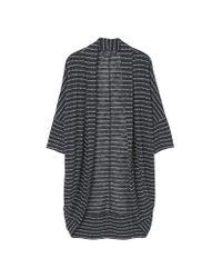 Mango | Black Striped Design Cardigan | Lyst