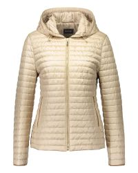 Basler | Natural Hooded Quilted Jacket | Lyst