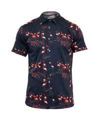 Ted Baker | Blue Flaming Flamingo Print Cotton Shirt for Men | Lyst