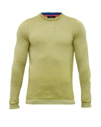 Ted Baker | Green Millar Textured Wool Blend Crew Neck Jumper for Men | Lyst