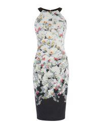 Karen Millen   Multicolor Ombre Blossom Print Dress   Lyst