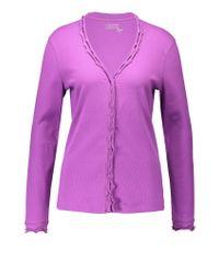 Basler   Purple Cotton Cardigan   Lyst