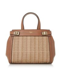 Dune | Brown Damita Medium Structured Raffia Tote Bag | Lyst