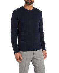 Armani - Blue Man Knitwear Sweater for Men - Lyst