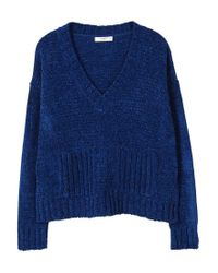 Mango | Blue Chenille Sweater | Lyst