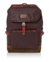 COACH | Red Manhattan Backpack | Lyst