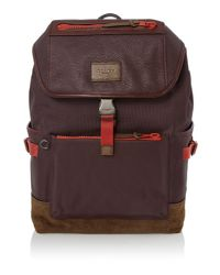 COACH - Red Manhattan Backpack - Lyst