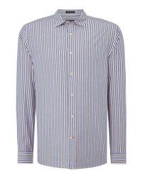 Howick - Blue Men's Fairhaven Stripe Long Sleeve Shirt for Men - Lyst