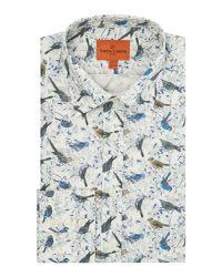 Simon Carter - Blue Men's Exclusive Liberty Birdsong Print Shirt for Men - Lyst