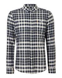 Farah - Blue Men's Anderton Slim Check Shirt for Men - Lyst