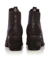 Moda In Pelle Black Angela Medium Casual Short Boots