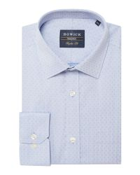 Howick - Blue Morrell Dobby Shirt for Men - Lyst