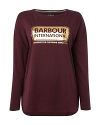 Barbour   Purple Exclusive Mallory Short Sleeves Tee   Lyst