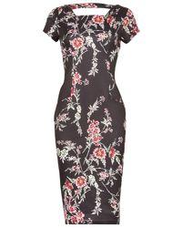 Izabel London - Multicolor Floral Print Midi Dress - Lyst